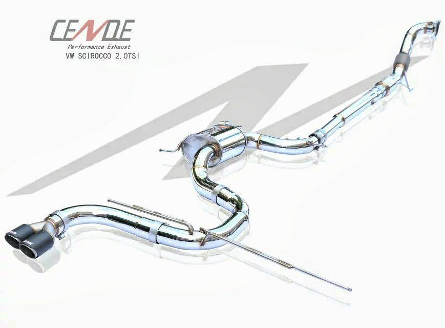 Cende Exhaust - Audi A3 8P | VW Scirocco 2.0